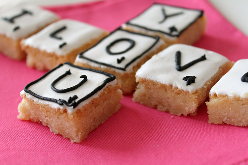 Scrabble Tile Shortbread Cookies