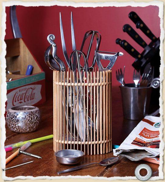 Make A Coffee Stir Stick Container Dollar Store Crafts