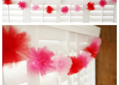 Make a Tulle Pom Pom Garland