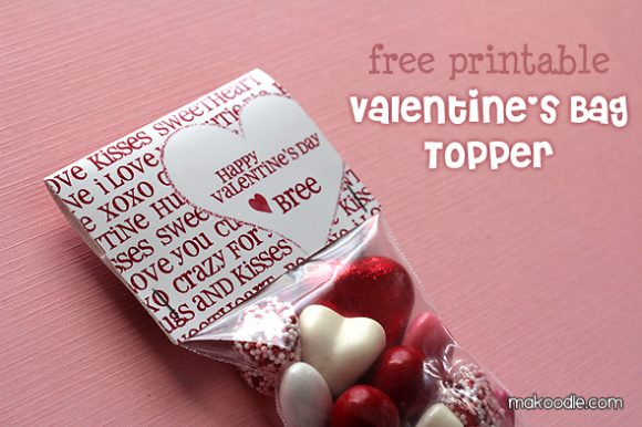 Printable Valentine Bag Toppers