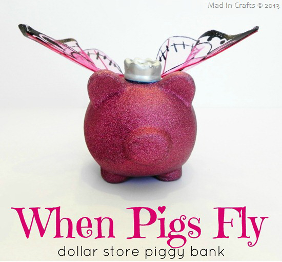 butterfly wings piggy bank