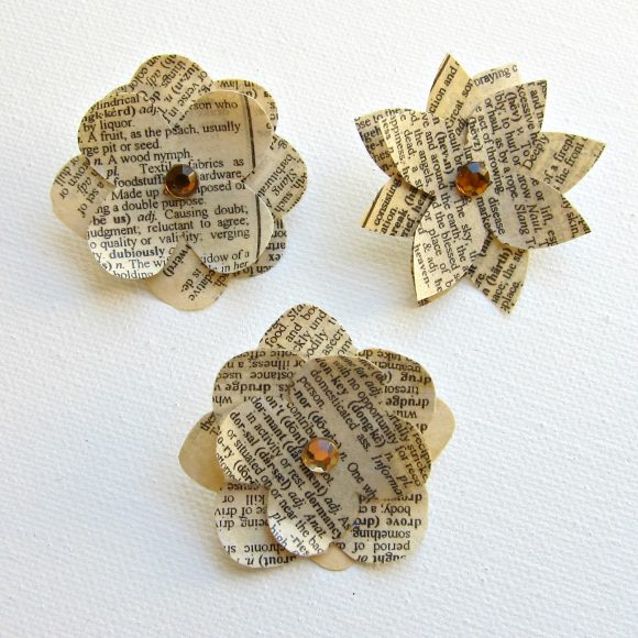 DIY Paper Flower Pins