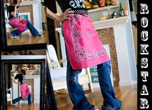 how to make an easy bandanna apron