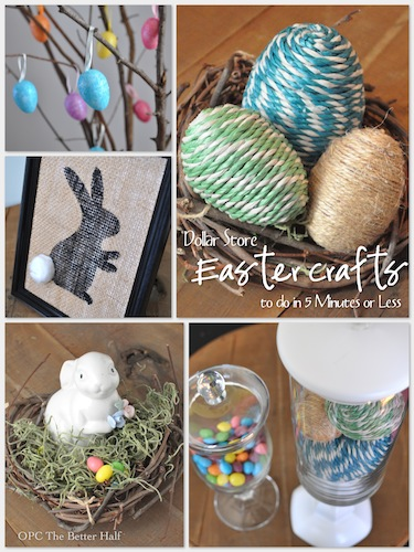 5 easy dollar store easter crafts