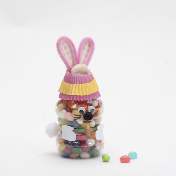 Jelly Bean Bunny Bottle Craft
