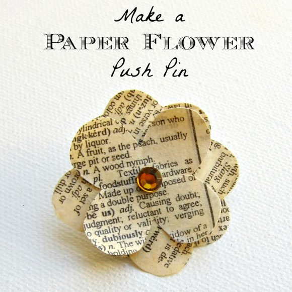 Make Paper Flower Pin