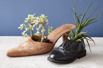 make a shoe flower pot
