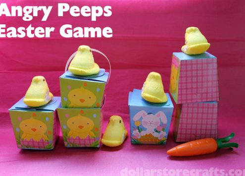 What to do with leftover Peeps: Angry Peeps Game!