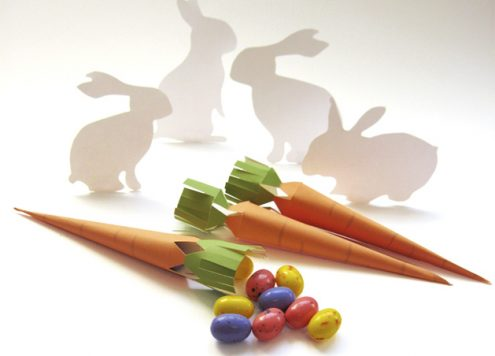 Free Printable: Carrot Favor Boxes for Easter