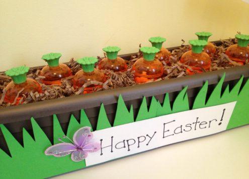 Tutorial: Carrot Garden Easter Favors