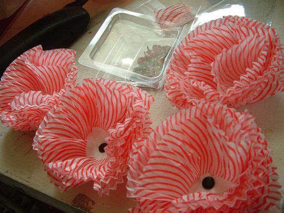 cupcake liner flowers by amanda kreuger