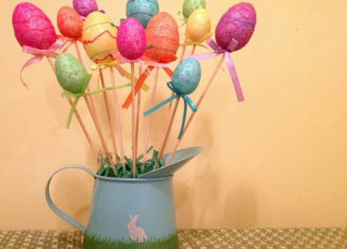 Tutorial: Dollar Store Easter Egg Bouquet