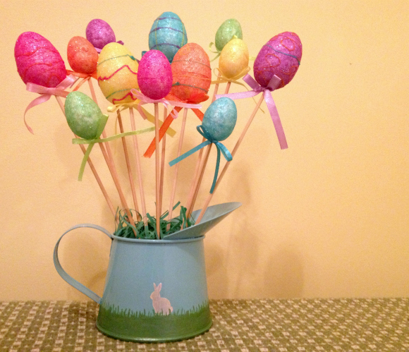Tutorial:  Dollar Store Easter Egg Bouquet