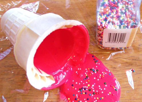 Make an April Fool's Day Fake Ice Cream Spill