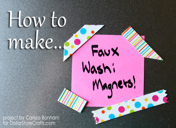 how to make washi tape magnets