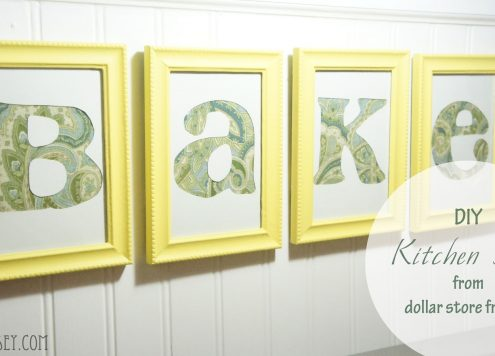Lettered Kitchen Sign with Dollar Store Frames