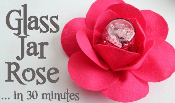 Glass Jar Roses