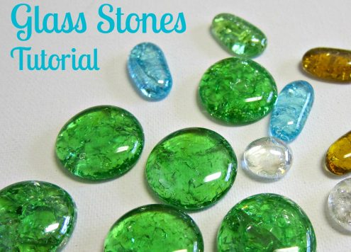 Cracked Glass Stones Tutorial - Dollar Store Craft
