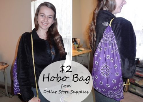 dollar store bandana clotheseline hobo bag