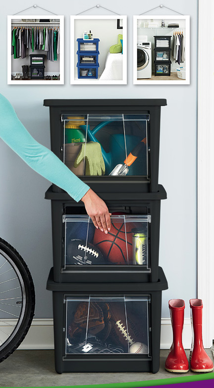 rubbermaid all access storage