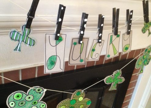 Recycled St. Patrick's Day Garland