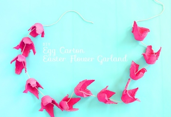 Make a Recycled Egg Carton Flower Garland