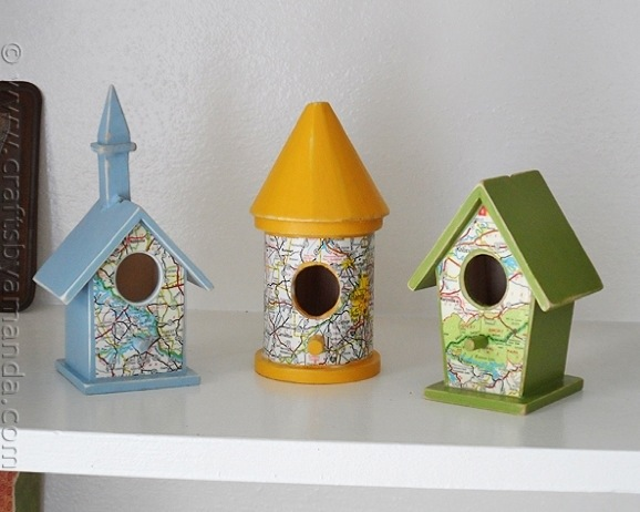 Make Road Map Bird Houses