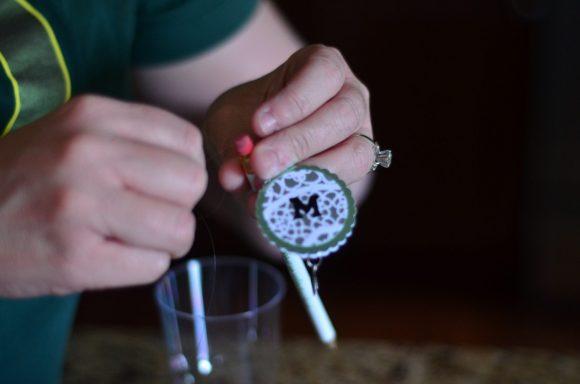 Tutorial: Monogram Candle Holder