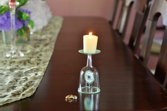 Tutorial: Monogram Candle Holder