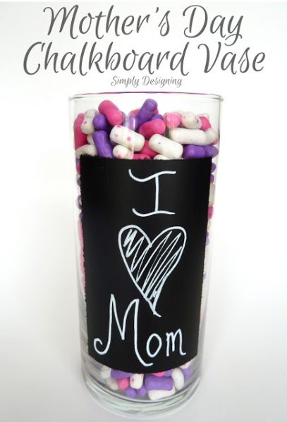 chalkboard paint craft vase