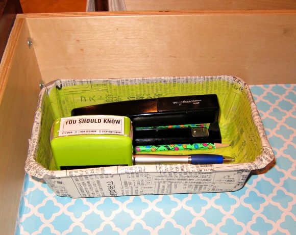 Recycled Drawer Organizer