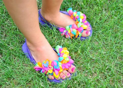 Make Balloon Flip Flops