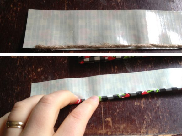 how to make a duct tape strap