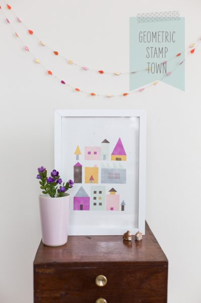 Make a Stamped Geometric Cityscape