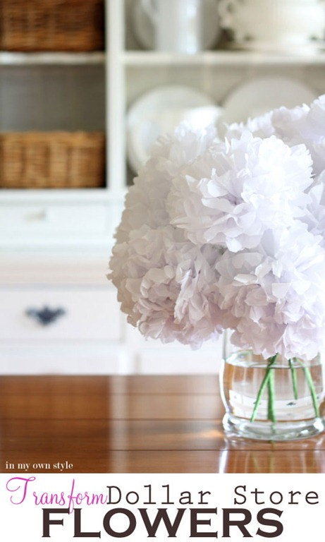 Make fake flowers look real dollar store crafts mightylinksfo