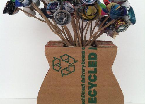 Make a Recycled Cardboard Vase