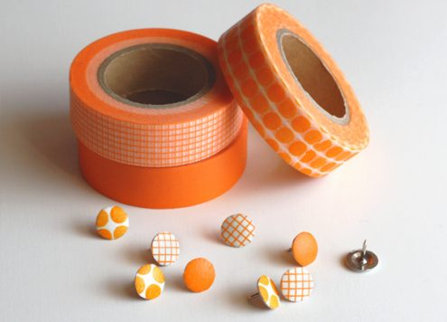 Make Washi Tape Covered Thumbtacks
