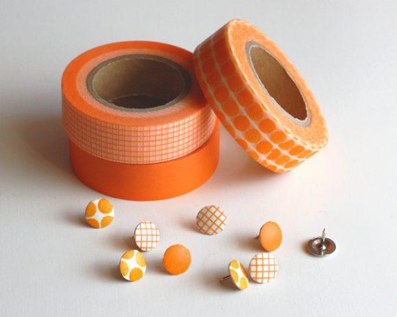 Make Washi Tape Covered Thumbtacks