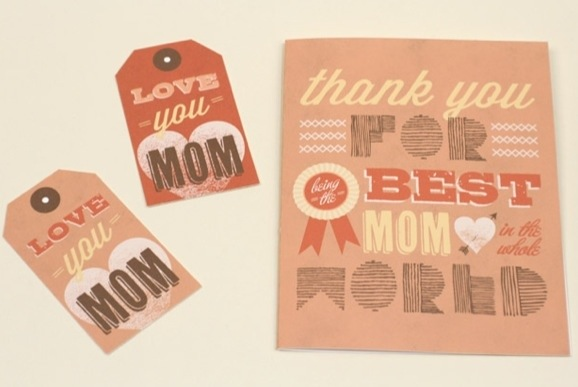 free printable best mom in the world Mother's Day cards and tags