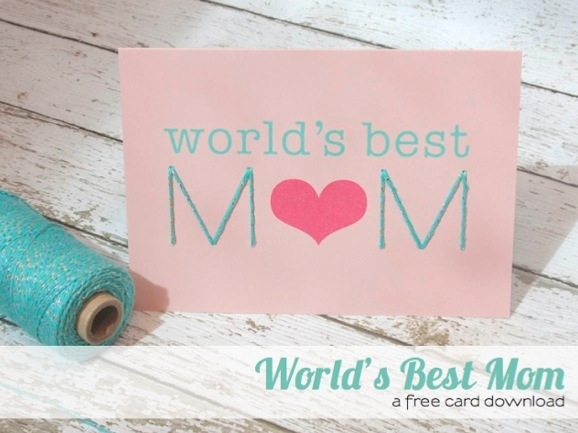 world's best mom printable card