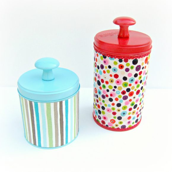 Fabric Covered Tins