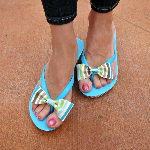 Refashioned Flip Flops