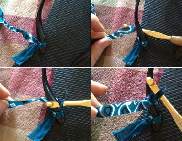 how to crochet around flip-flop straps - from dollarstorecrafts.com