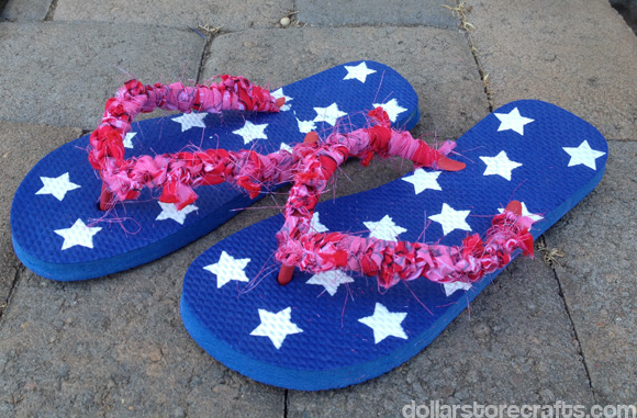 crocheted bandanna flip-flops by dollarstorecrafts.com