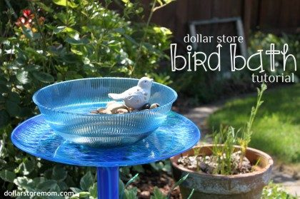 party dishes bird bath