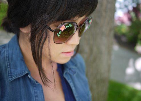 Make Embroidered Sunglasses