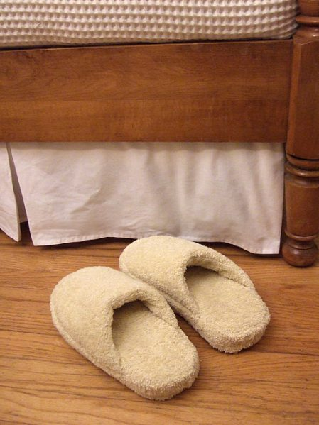 turn flip flops into slippers