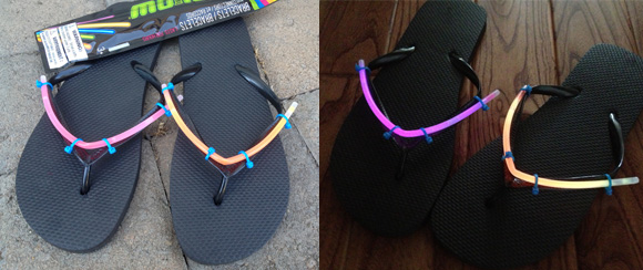 Glow in the Dark Flip-Flops by dollarstorecrafts.com