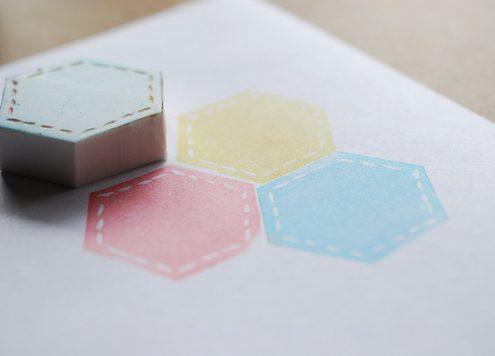 Hexagon Quilt Block Stamp