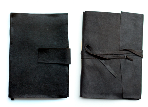 Make easy leather journals
